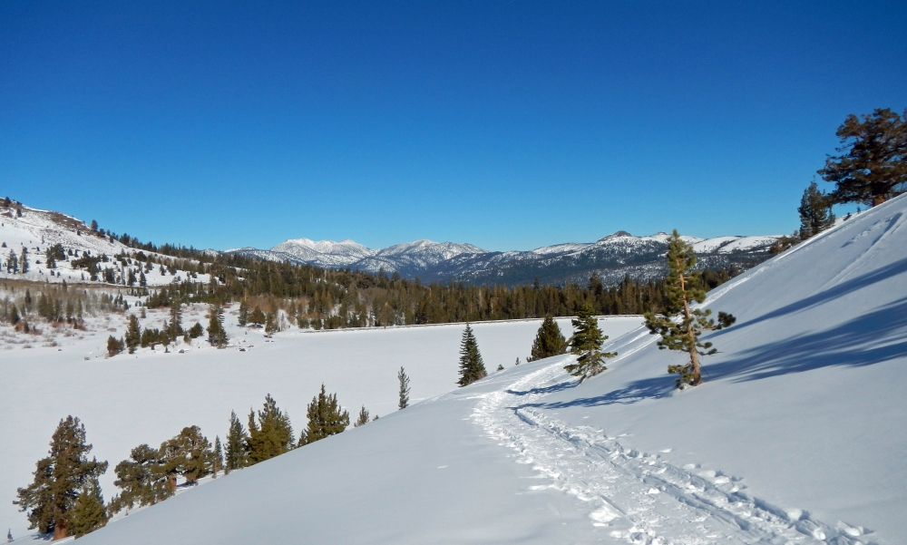 The view from above Red Lake back into Hope Valley.