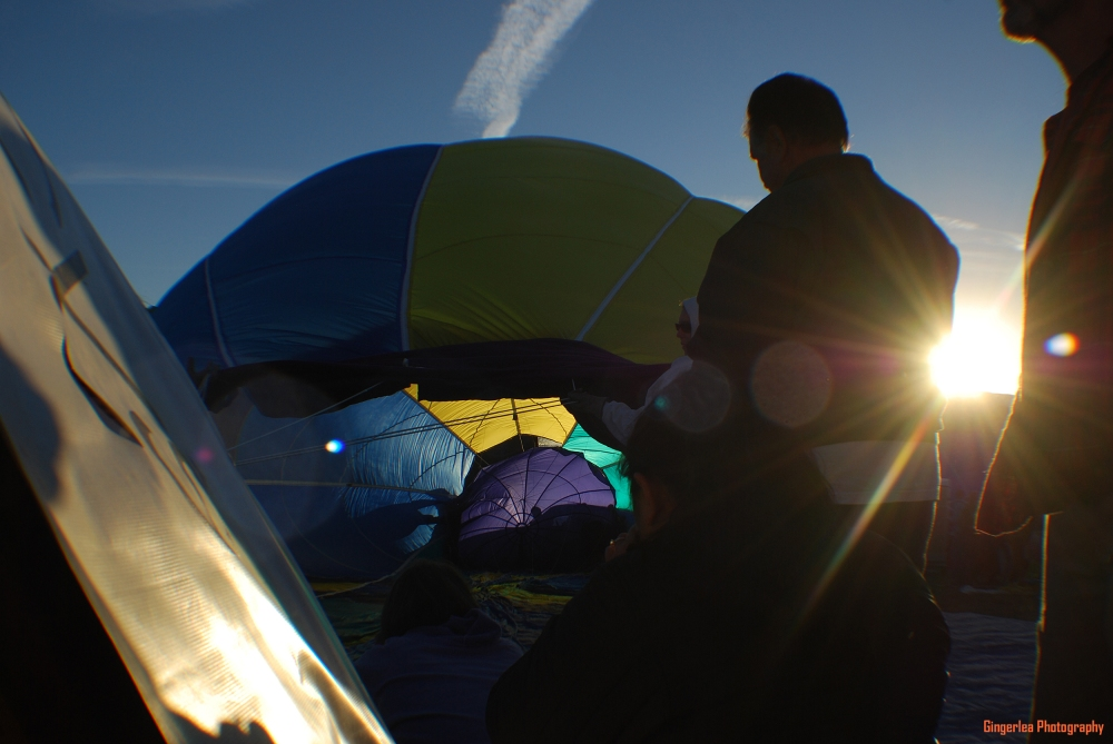 And, in case you wanted to see inside the balloon while there were inflating it, here are a couple more shots.