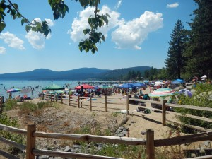 A beautiful, busy Tahoe day.