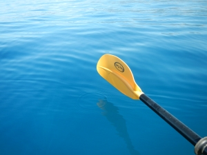 I have a thing for taking pictures of my paddle against the water.   This picture is straight out of camera.   The water here looks soooo blue.   It is even prettier in person.