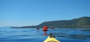 expect to see a lot of the back of this kayaker in my next few posts, she's camera-shy but will tolerate this much fame