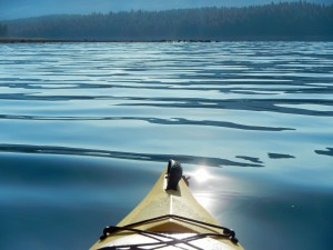 glassy waters