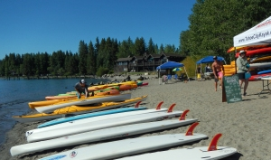 All the public beaches are hopping with vendors renting kayaks and paddle boards.
