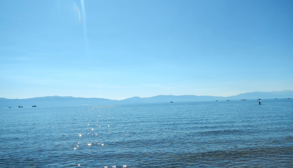This is the view from Tahoe City's Commons Beach where we started.   Nice morning.