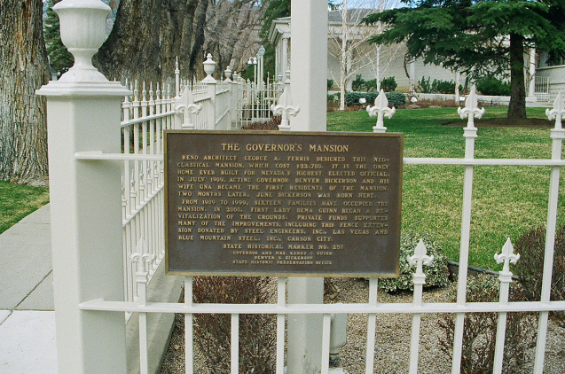 gov mansion sign