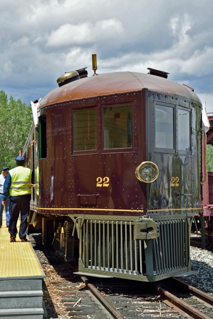 front at the platform