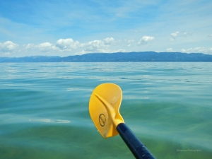 the view from the south shore ... paddle style