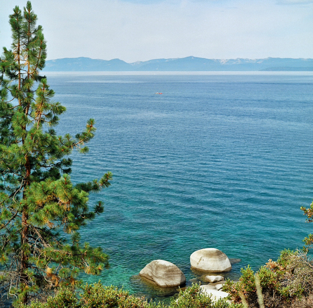 This in from the Nevada side of the lake near the Sand Harbor lookout point, facing to the west.